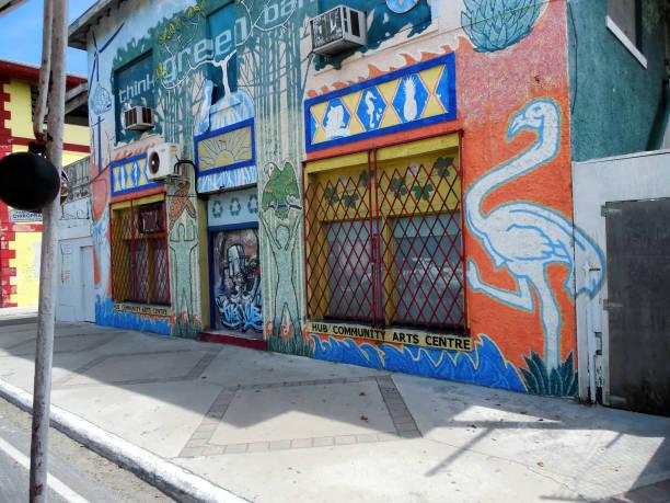 Exterior of The Hub Community Arts Centre Nassau, The Bahamas stock photo