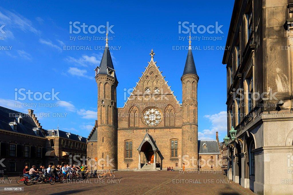exterior of the Knights' Hall at Binnenhof stock photo