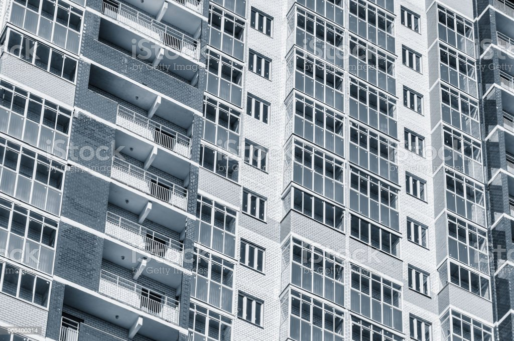 Exterior of the new apartment building. royalty-free stock photo