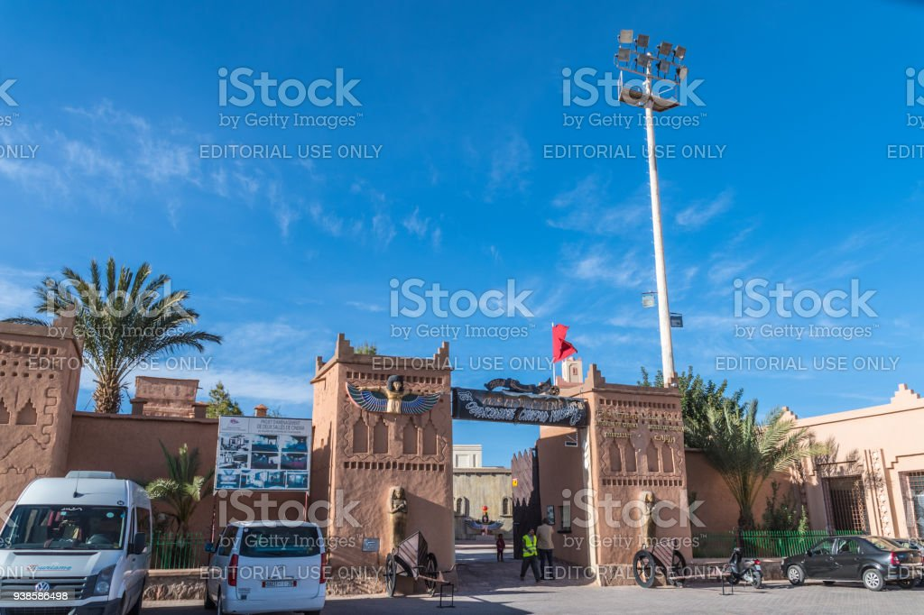 Exterior of the Ouarzazate Museum of Cinema stock photo
