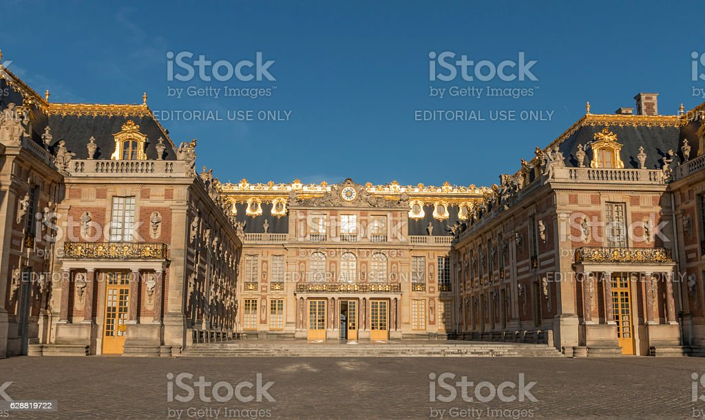 Exterior of the Palace of Versailles. stock photo