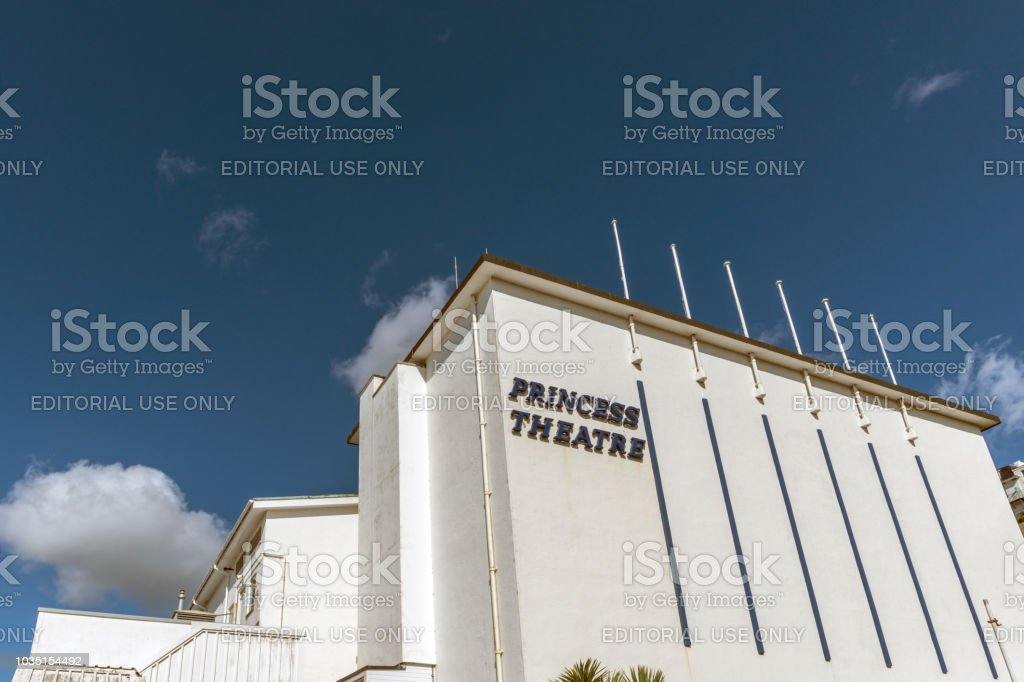 Exterior of the Princess Theatre in Torquay, Devon stock photo
