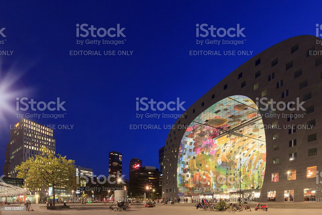 exterior of the recently opened Markthal in Rotterdam stock photo
