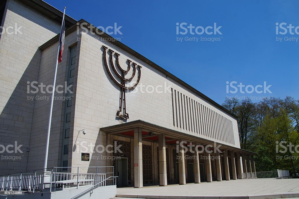 Exterior of the Synagoge de la Paix (Le grand Synagogue de la Paix) stock photo