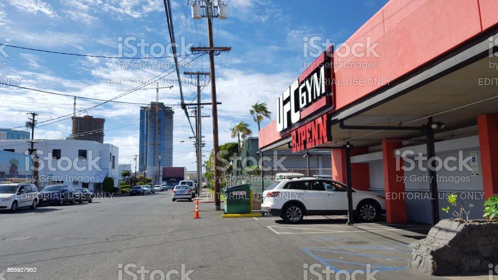 Exterior of UFC Gym BJ Penn and Honolulu area