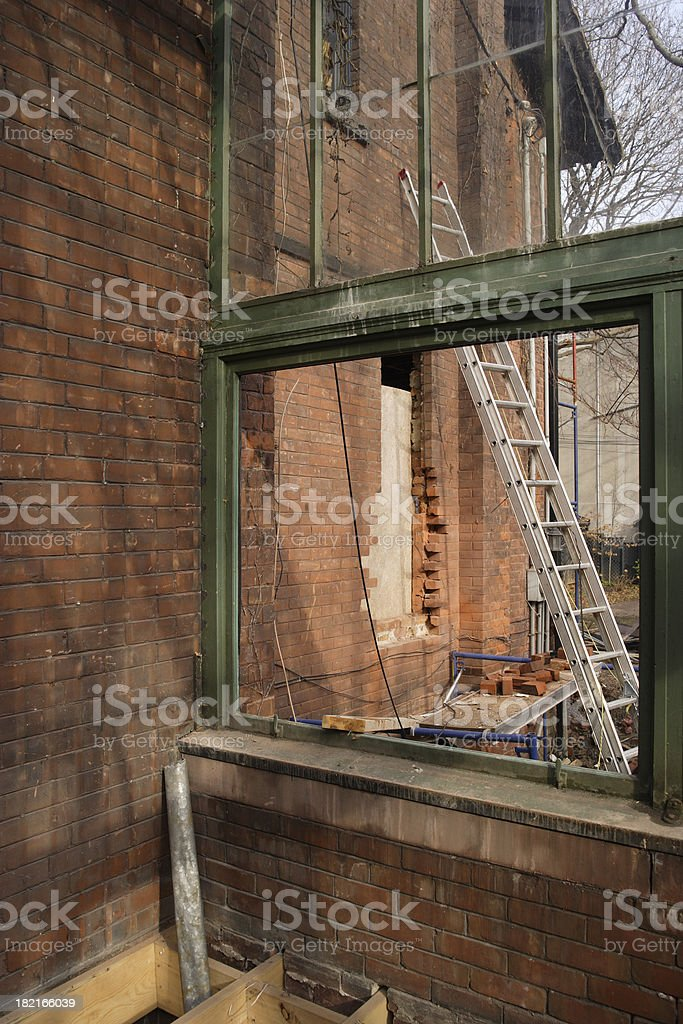 Exterior remodeling royalty-free stock photo
