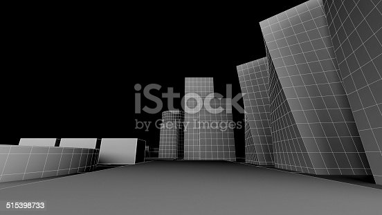 507211101 istock photo Exterior render of some building with black background 515398733