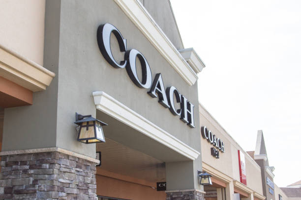 Exterior Sign Of Coach Brand Store stock photo
