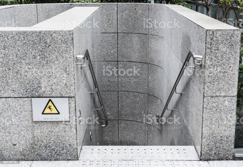 Exterior stairs step and marble tiles paving. royalty-free stock photo