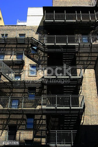 istock Exterior Steal Staircase 471012325