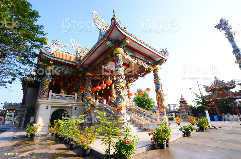 exterior the shrine chinese beliefs religious, thailand royalty-free stock photo