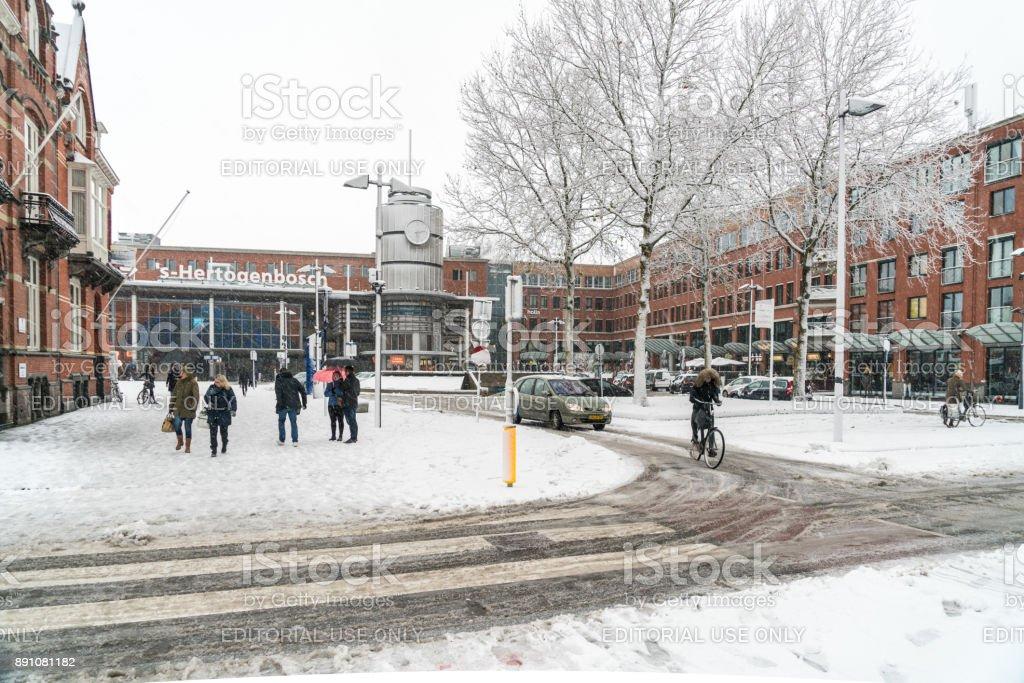 Äußere Bahnhof Den Bosch, Niederlande – Foto