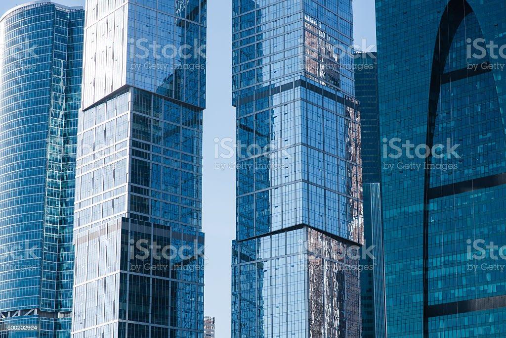 Exterior view of big company stock photo