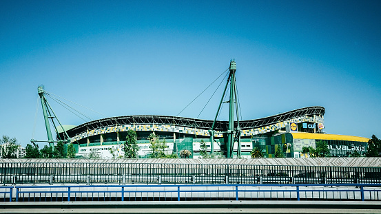 istock Exterior view of Estadio Jose Alvalade in Lisbon, Portugal where Sporting Lisbon plays home matches 1173906512