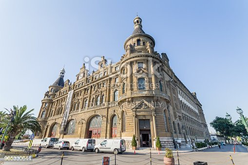 Exterior View Of Haydarpasha Railway Station Stock Photo & More Pictures of Angle