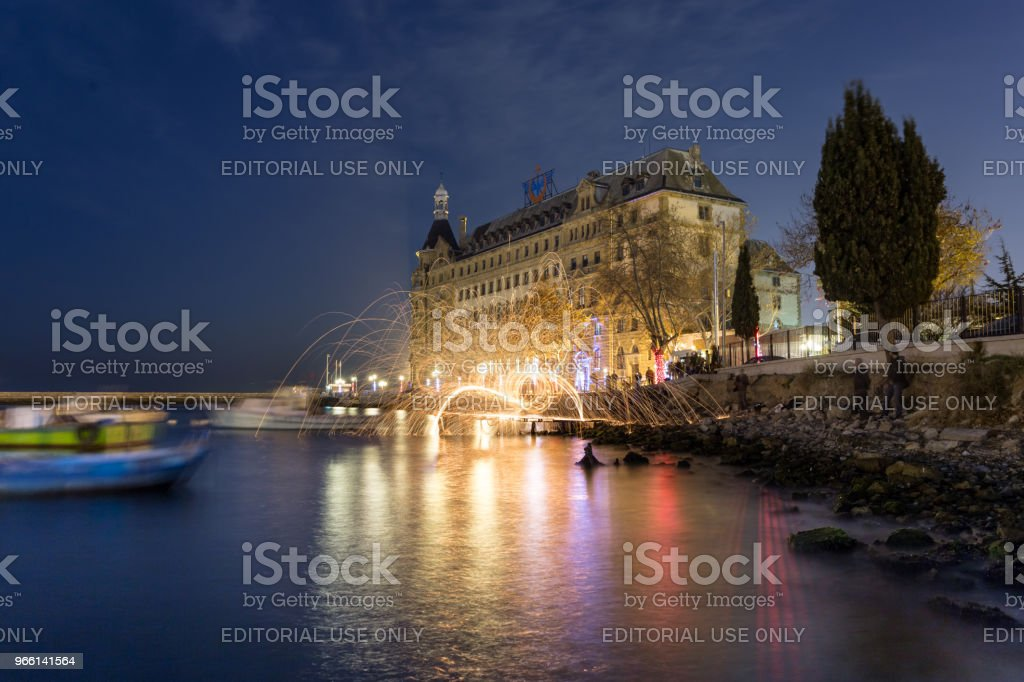 Exterior view of Haydarpasha railway station - Royalty-free Abstract Stock Photo
