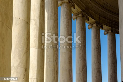 Exterior View of Jefferson Memorial in Washington DC