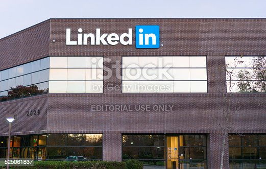 496586115 istock photo Exterior view of LinkedIn's corporate headquarters 525061837