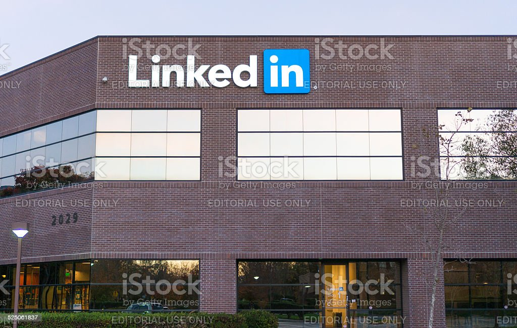 Exterior view of LinkedIn's corporate headquarters stock photo