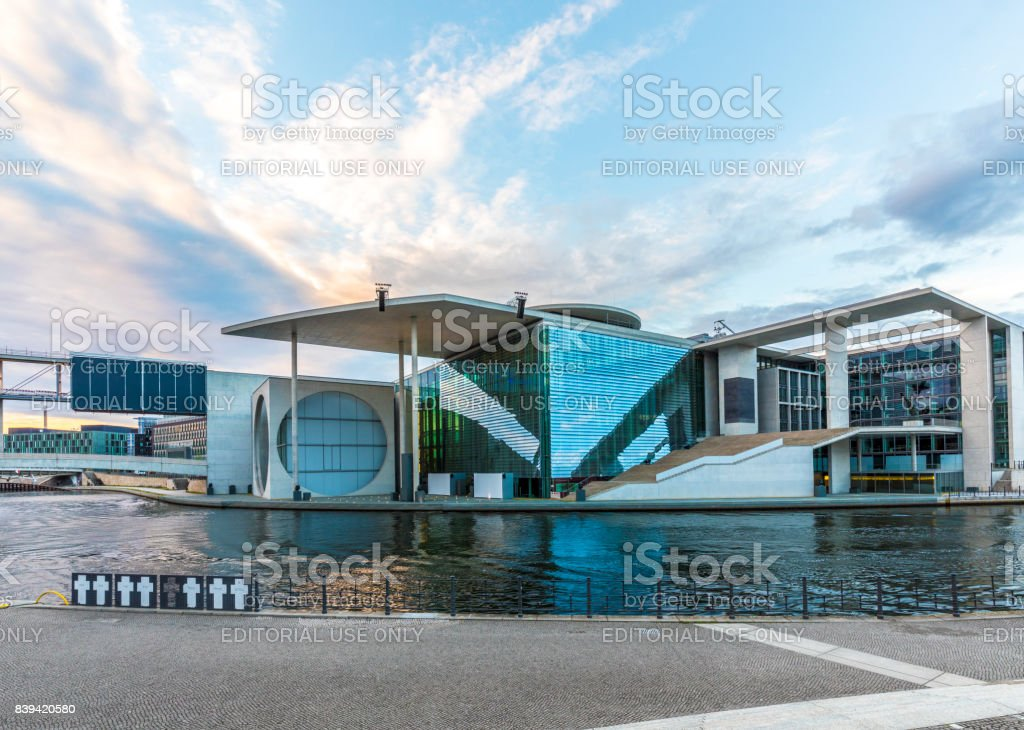 exterior view of Marie-Elisabeth-Luders-Haus, Berlin stock photo