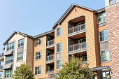 istock Exterior view of modern apartment building 1273552068