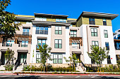 istock Exterior view of multifamily residential building; Mountain View, San Francisco bay area, California 1187439428