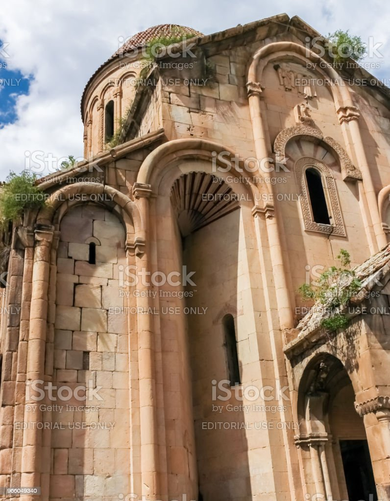 Exterior view of Oshki or Oshk Vank church - Royalty-free Ancient Stock Photo