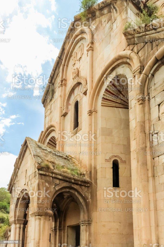 Exteriör vy av Oshki eller Oshk Vank kyrka - Royaltyfri Andlighet Bildbanksbilder