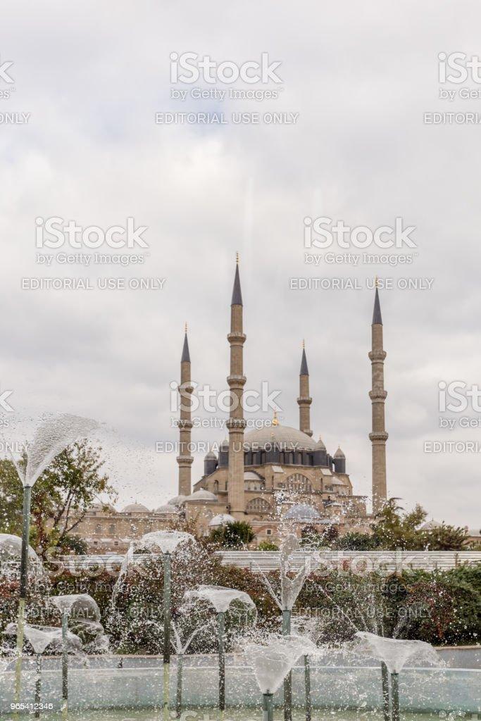 土耳其 Edirne Selimiye 清真寺外景 - 免版稅伊斯蘭教圖庫照片