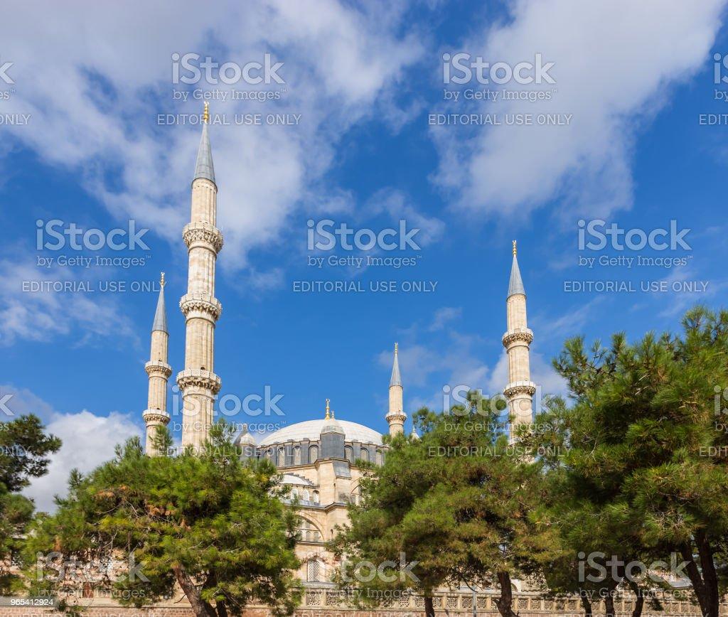 Exterior view of Selimiye Mosque in Edirne,Turkey zbiór zdjęć royalty-free