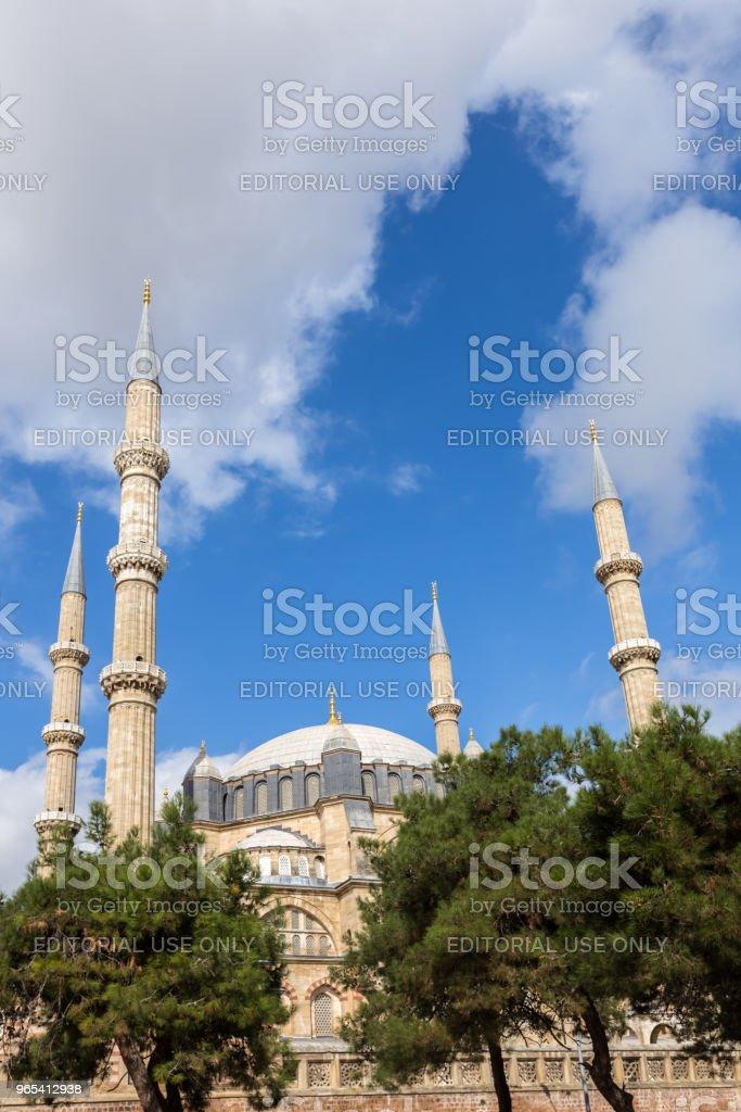 Außenansicht der Selimiye-Moschee in Edirne, Türkei - Lizenzfrei Alt Stock-Foto