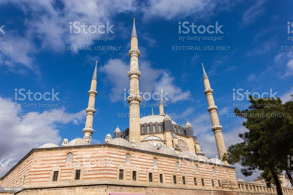 에디르네, 터키에서 셀 리 미 예 모스크의 외부 보기 - 로열티 프리 0명 스톡 사진