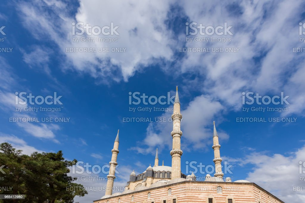 Exterior view of Selimiye Mosque in Edirne,Turkey royalty-free stock photo