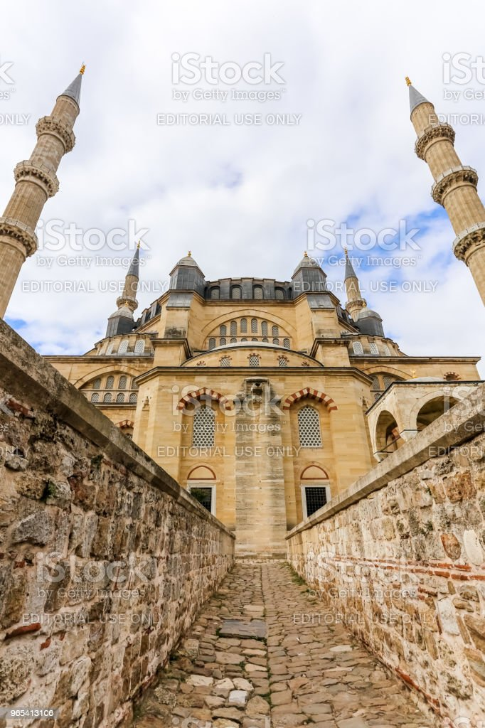 Exterior view of Selimiye Mosque in Edirne,Turkey zbiór zdjęć royalty-free