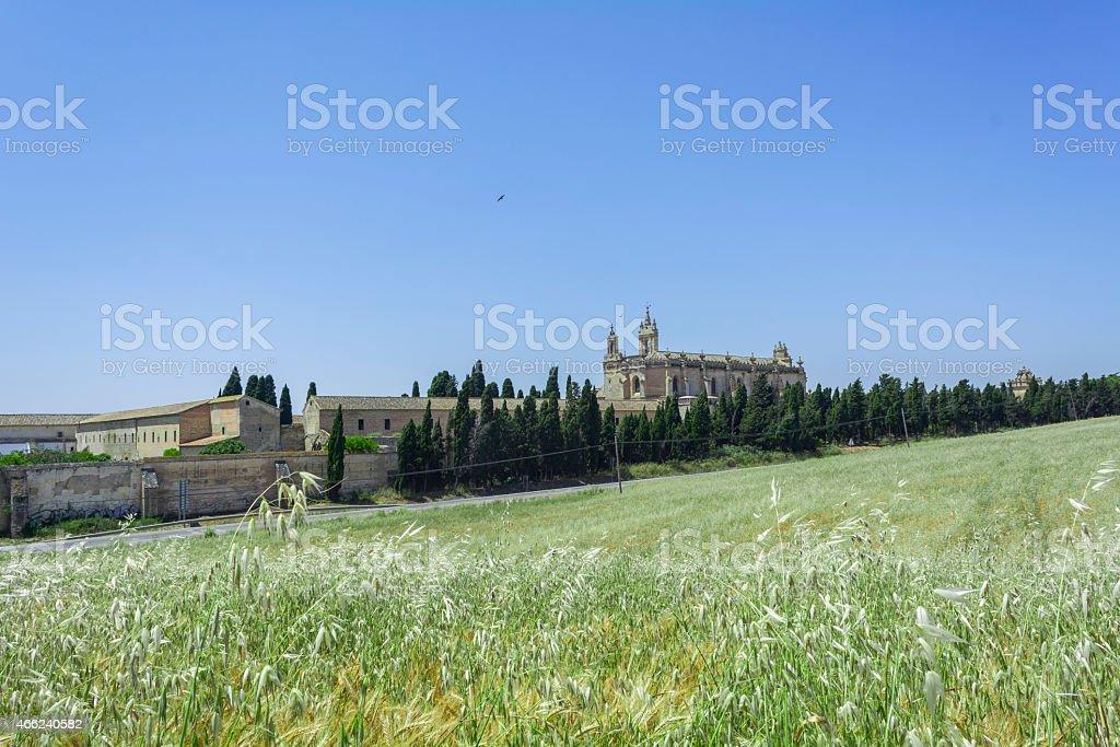 Exterior view of the Cartuja monastery, Jerez de la Frontera stock photo