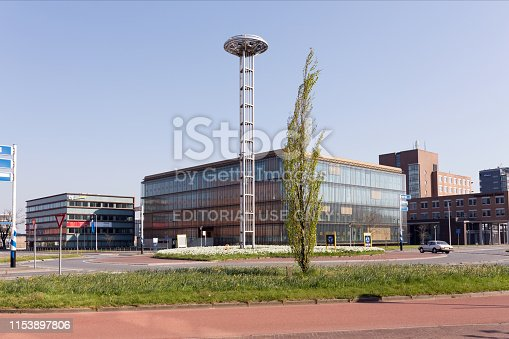 Leeuwarden, The Netherlands - April 2019. Leeuwarden, The Netherlands - April 2019. Exterior view of the The Central Judicial Collection Agency (CJIB: Centraal Justitieel Incassobureau) forms part of the Ministry of Justice and Security. The CJIB is responsible for collecting a range of different fines, such as traffic fines and punitive orders. It also plays a key enforcement role in decisions relating to criminal matters, such as court rulings or decisions made by one of the Public Prosecution Service's public prosecutors.