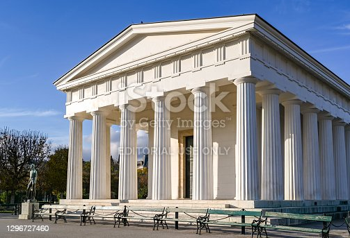 istock Exterior view of the Theseus Temple in Vienna 1296727460