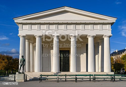 istock Exterior view of the Theseus Temple in Vienna 1296727473