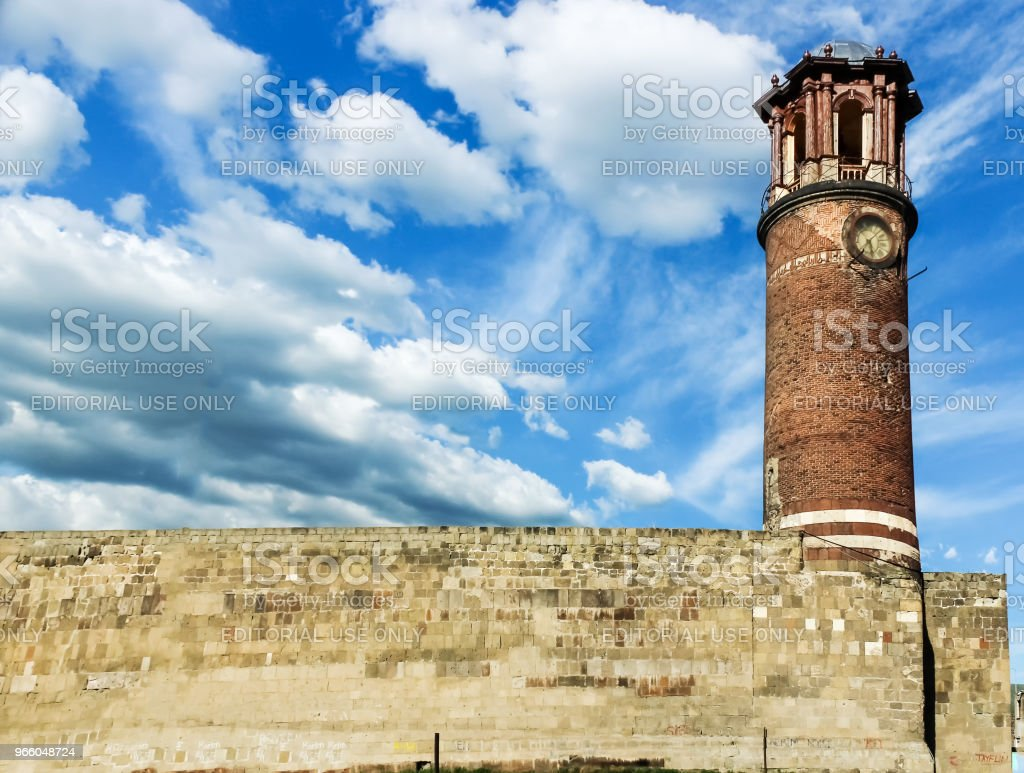 Außenansicht des Tablett Minarett oder Clock tower - Lizenzfrei Alt Stock-Foto