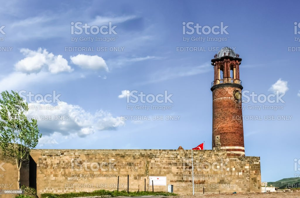 Buitenaanzicht van lade Minaret of Clock tower - Royalty-free Anatolië Stockfoto
