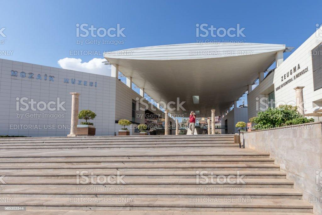 Exterior view of Zeugma Museum in Gaziantep zbiór zdjęć royalty-free