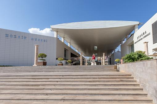 가지 암 텝에 Zeugma 박물관의 외부 보기 가지안테프 시에 대한 스톡 사진 및 기타 이미지