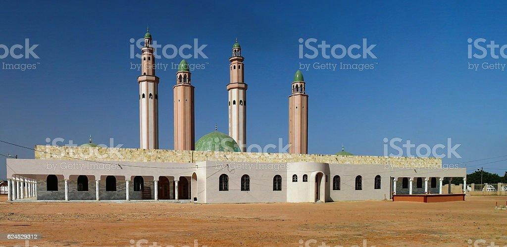 Exterior view Touba mosque, Senegal stock photo