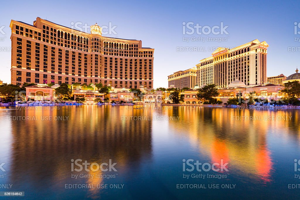 Exterior views of the Bellagio Casino stock photo
