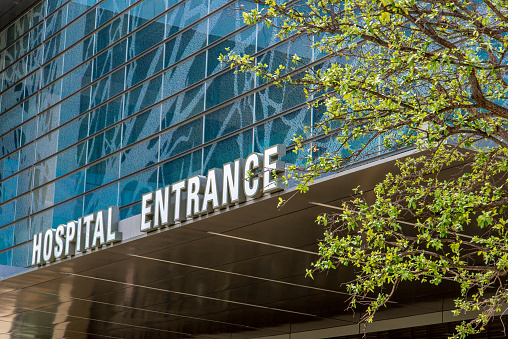 Exterior Views Of The New Addition To Parkland Memorial Hospital Stock Photo - Download Image Now