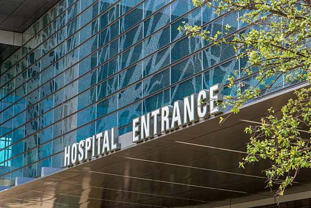 Exterior views of the new addition to Parkland Memorial Hospital stock photo
