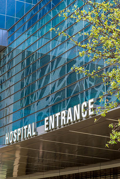 Exterior views of the new addition to Parkland Memorial Hospital stock photo