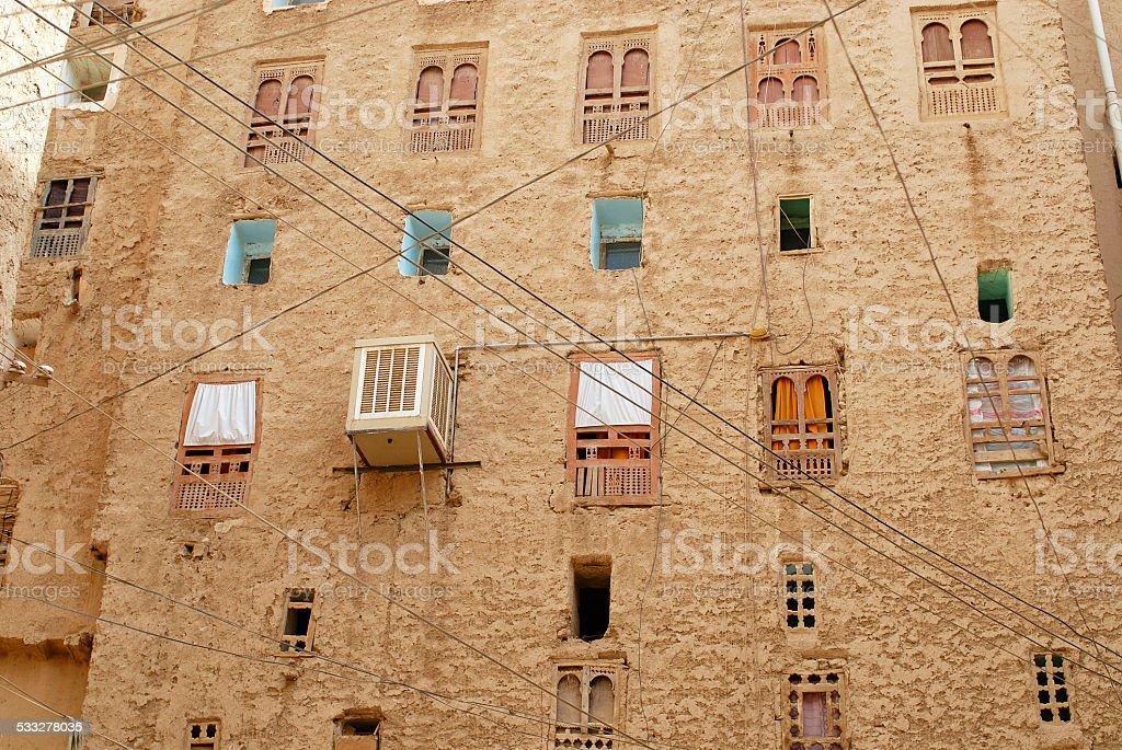 Case Di Mattoni Di Fango : Le case rosse tipical del fango mattone nel villaggio antico di