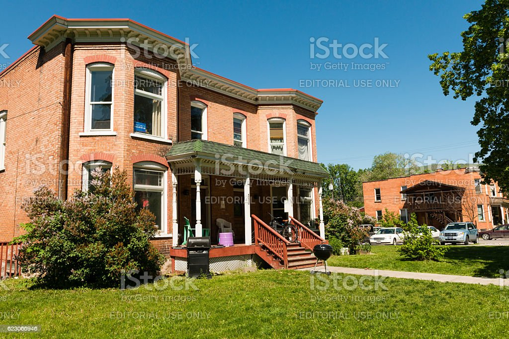 Exterior Western Residential Apartment Homes Missoula Montana Spring USA stock photo