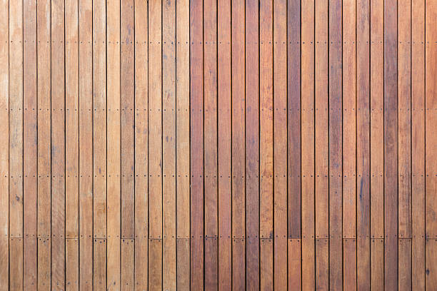 Exterior wooden decking or flooring on the terrace - foto de acervo